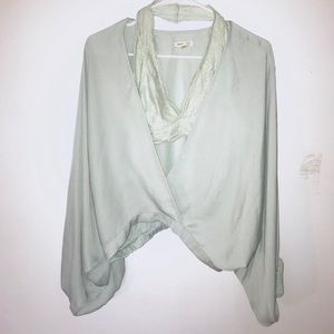 Silence + Noise wrap front flowy top